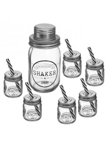 Set shaker SG, sticla, 7 piese